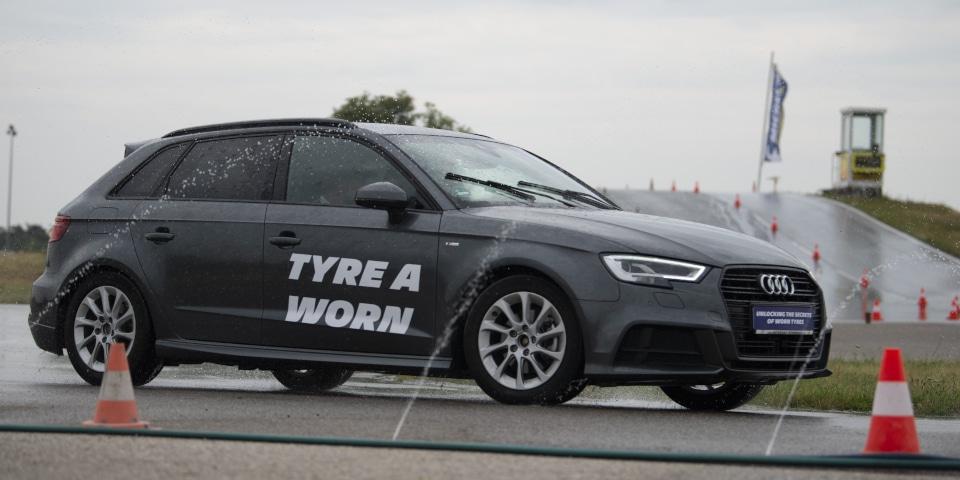 Audi A3 ıslak pist sürüş Michelin Viyana